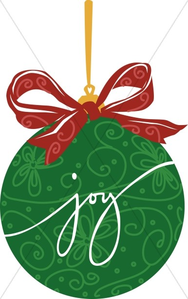 Traditional christmas images clipart clip library download Green JOY ornament | Traditional Christmas Decoration Clipart clip library download