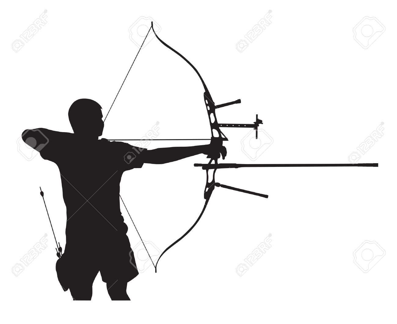 Traditional class archer clipart picture freeuse Archer silhouette clipart - ClipartFest picture freeuse