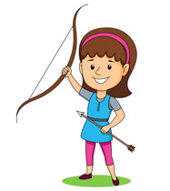 Traditional class archer clipart vector royalty free Free Sports - Archery Clipart - Clip Art Pictures - Graphics ... vector royalty free