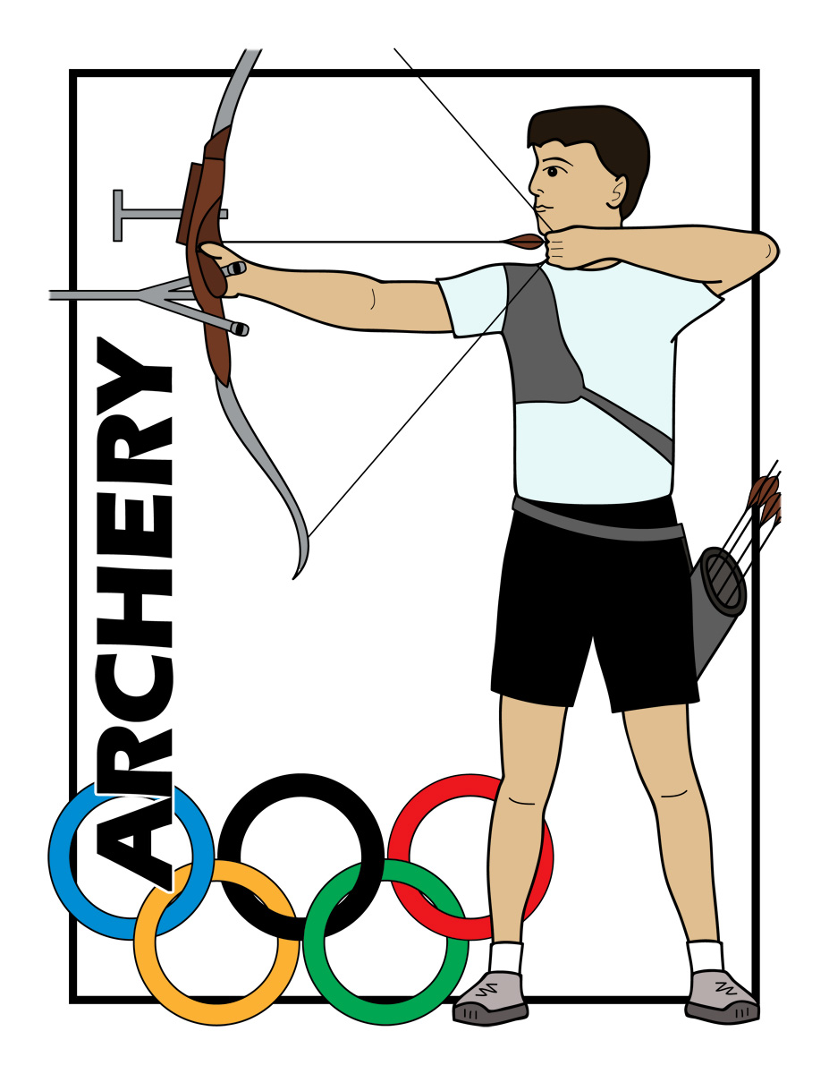 Traditional class archer clipart svg library stock Archery arrow clipart 2 - Clipartix svg library stock