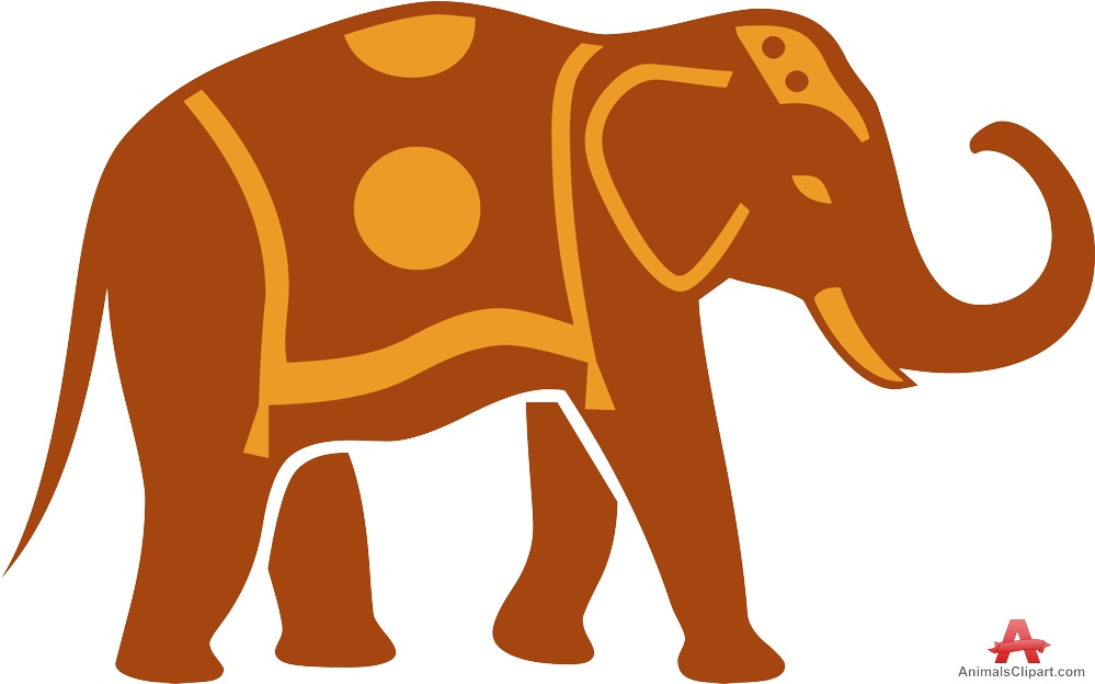 Traditional clipart vector library download Elephant with Traditional Carpet Clipart | Free Clipart Design ... vector library download