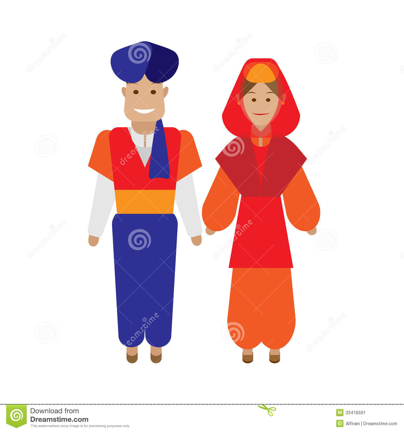 Traditional clipart graphic download Traditional Turkish Attire Clipart graphic download