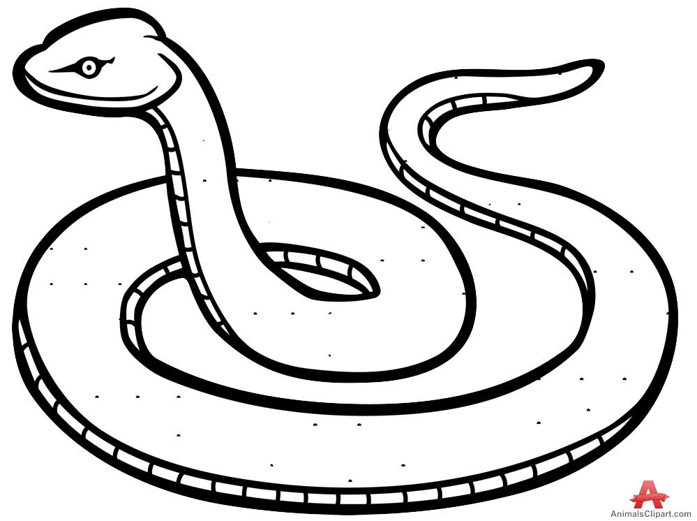 Traditional clipart 3eyed snake image black and white stock Snake clipart outline - ClipartFest image black and white stock
