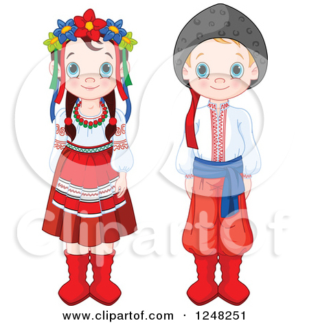 Traditional costumes clipart clip art royalty free Royalty-Free (RF) Traditional Dress Clipart, Illustrations, Vector ... clip art royalty free