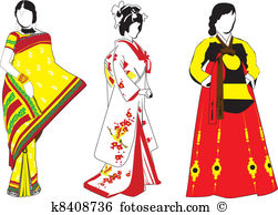 Traditional costumes clipart banner library download Korean traditional costume Clip Art Royalty Free. 203 korean ... banner library download