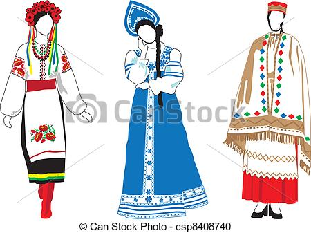 Traditional costumes clipart clipart transparent stock National costumes clipart - ClipartFest clipart transparent stock