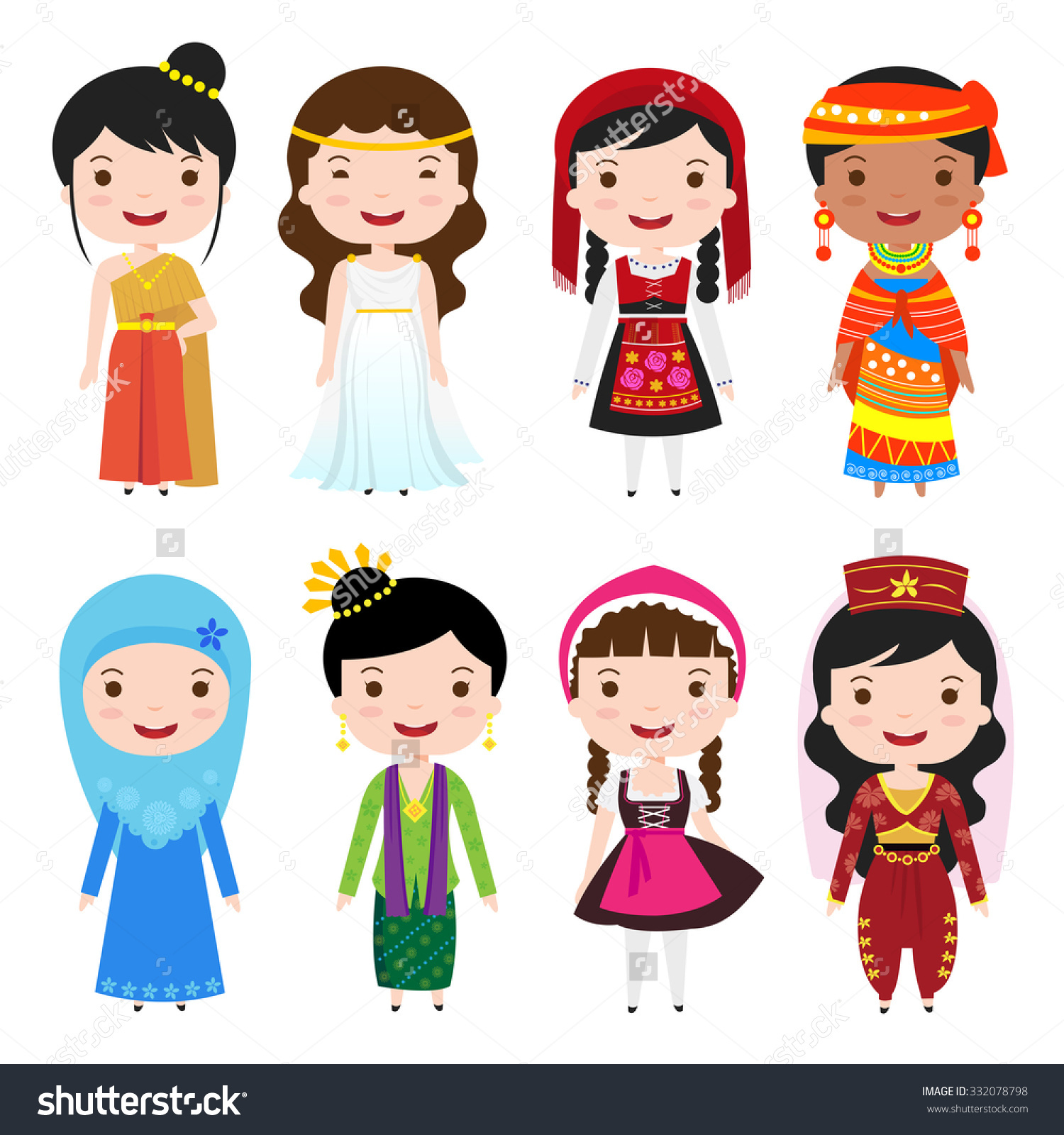 Traditional costumes clipart image library stock Traditional costumes clipart - ClipartFest image library stock