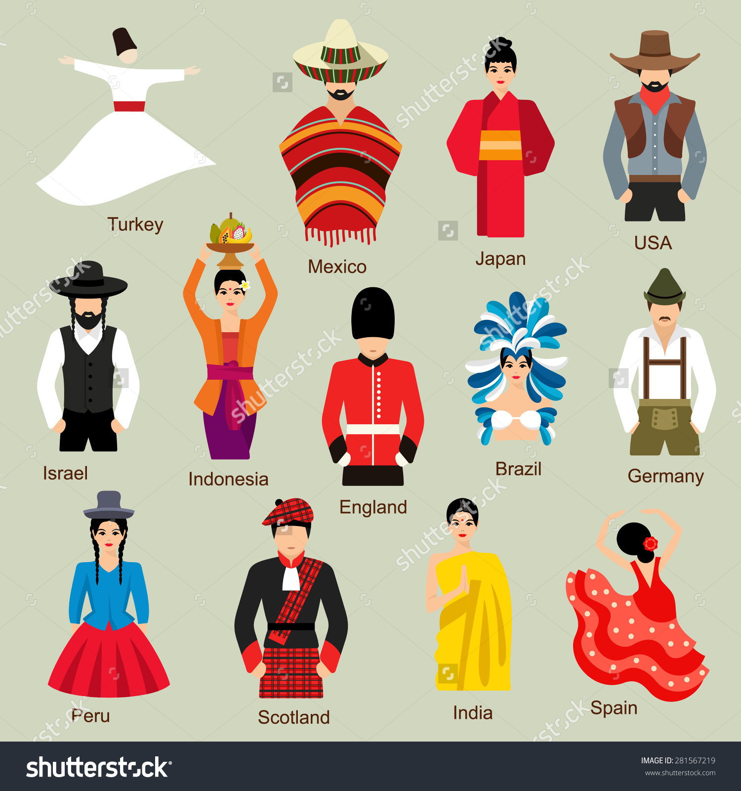 Traditional costumes clipart png free download National costumes clipart - ClipartFest png free download
