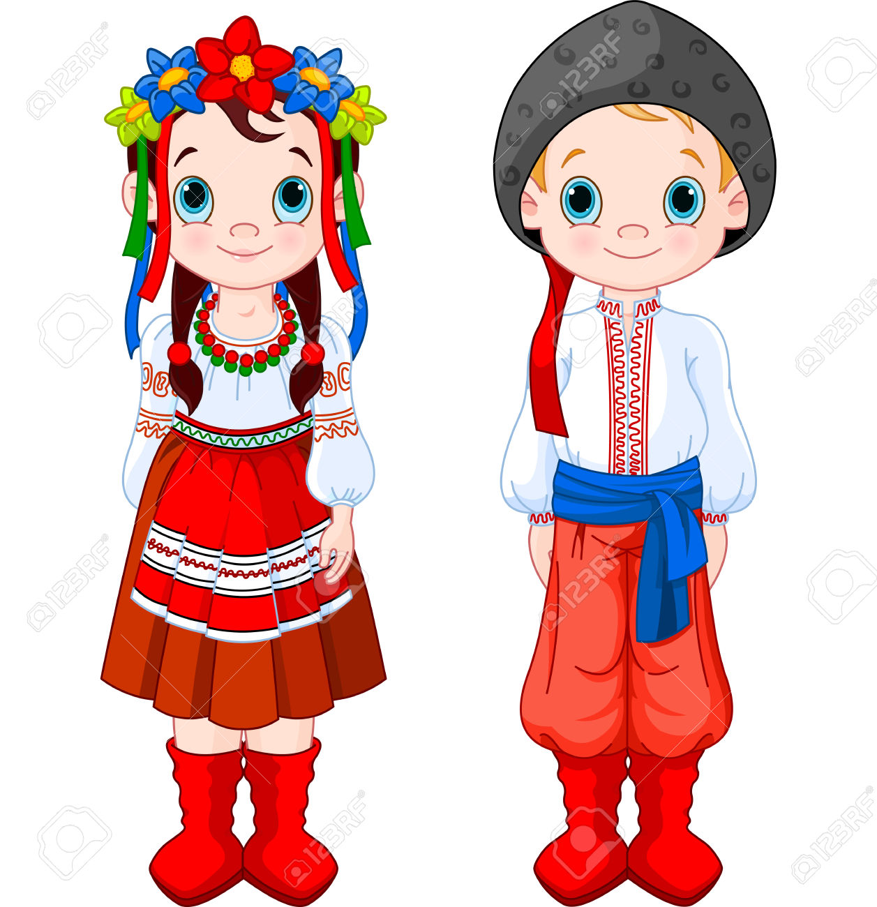 Traditional costumes clipart picture free library 4,748 National Costume Cliparts, Stock Vector And Royalty Free ... picture free library