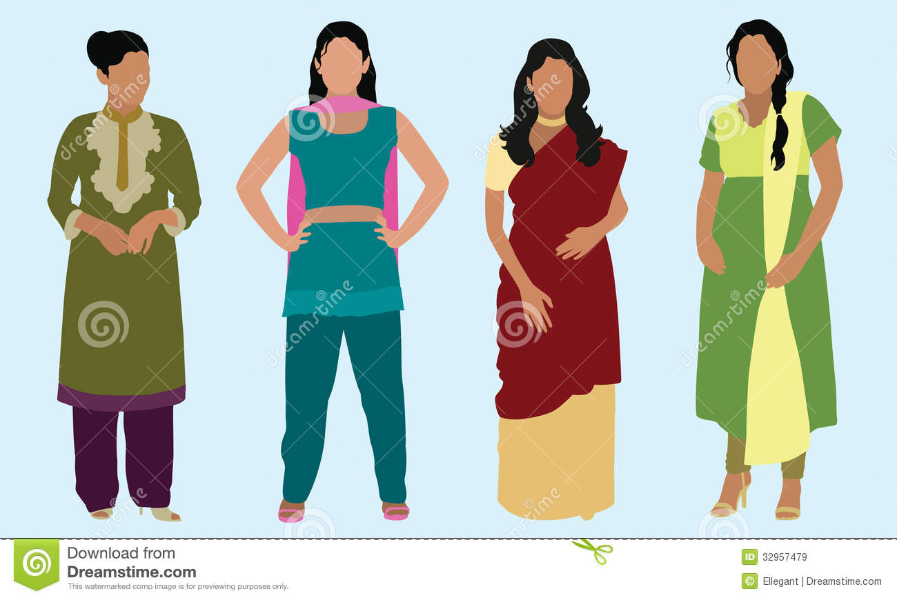 Traditional dress clipart svg stock Indian traditional dress clipart - ClipartFest svg stock