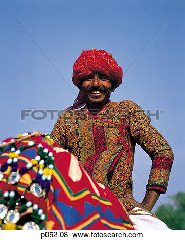 Traditional dress of rajasthan clipart image black and white Pictures of India, Jaipur, Rajasthan, man in traditional dress ... image black and white