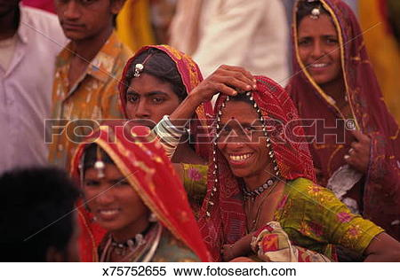 Traditional dress of rajasthan clipart svg freeuse library Stock Image of India, Rajasthan, near Pali, local women in ... svg freeuse library