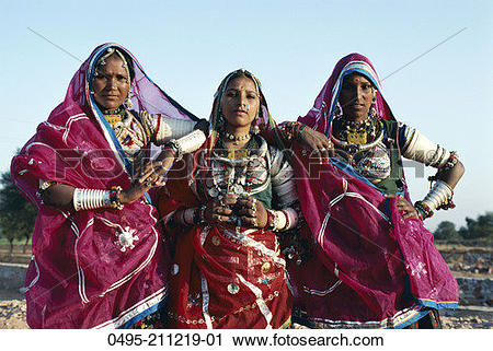 Traditional dress of rajasthan clipart image download Stock Photography of India, Rajasthan, Banjara Gypsy Women Dressed ... image download