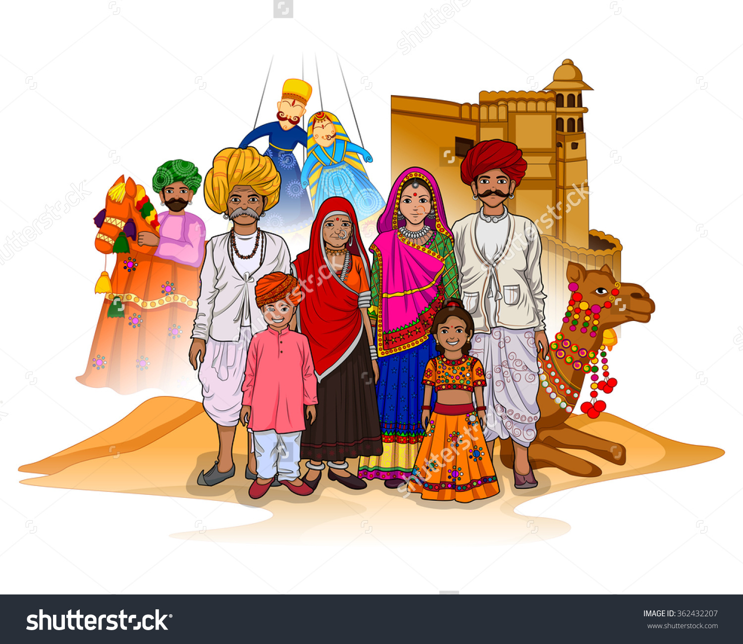 Traditional dress of rajasthan clipart graphic black and white library Traditional dress of rajasthan clipart - ClipartFest graphic black and white library