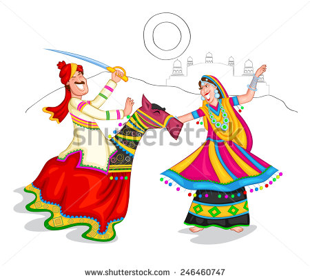 Traditional dress of rajasthan clipart vector freeuse download Rajasthani dance clipart - ClipartFox vector freeuse download