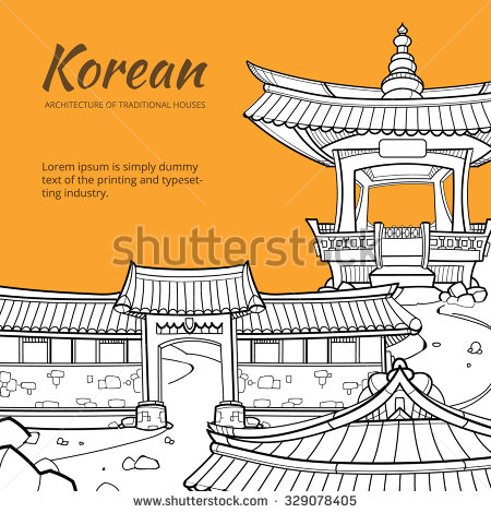 Traditional house blessing clipart clip freeuse Korea Traditional House Stock Images, Royalty-Free Images ... clip freeuse