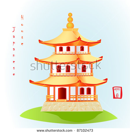 Traditional house blessing clipart clip free library Japanese House Stock Vectors, Images & Vector Art | Shutterstock clip free library