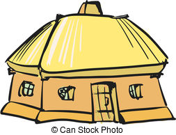 Traditional house clipart jpg transparent download EPS Vector of Ukrainian traditional house - cartoon, vector ... jpg transparent download