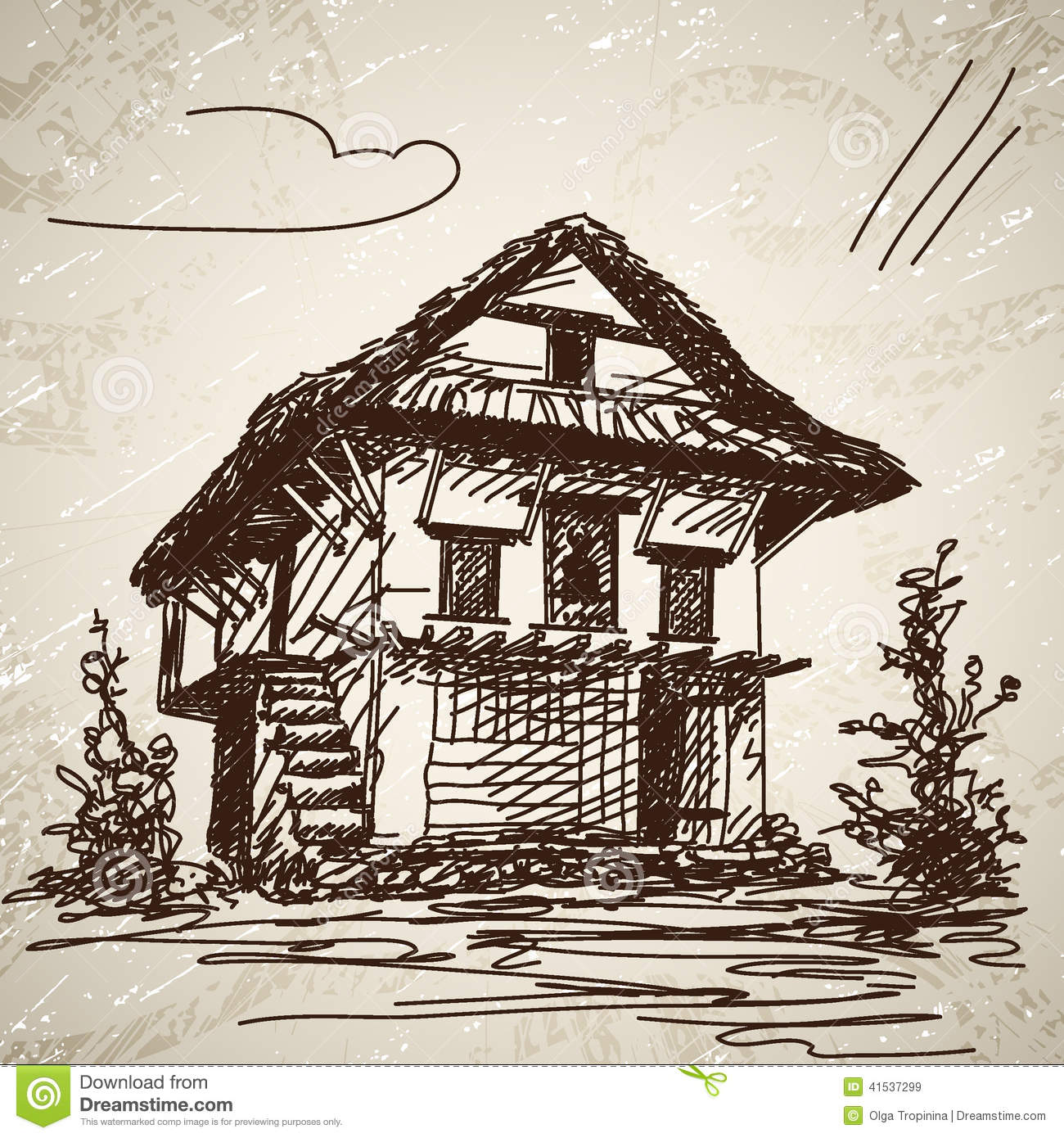 Traditional house clipart vector library Nepali Traditional House Stock Photo - Image: 54968961 vector library