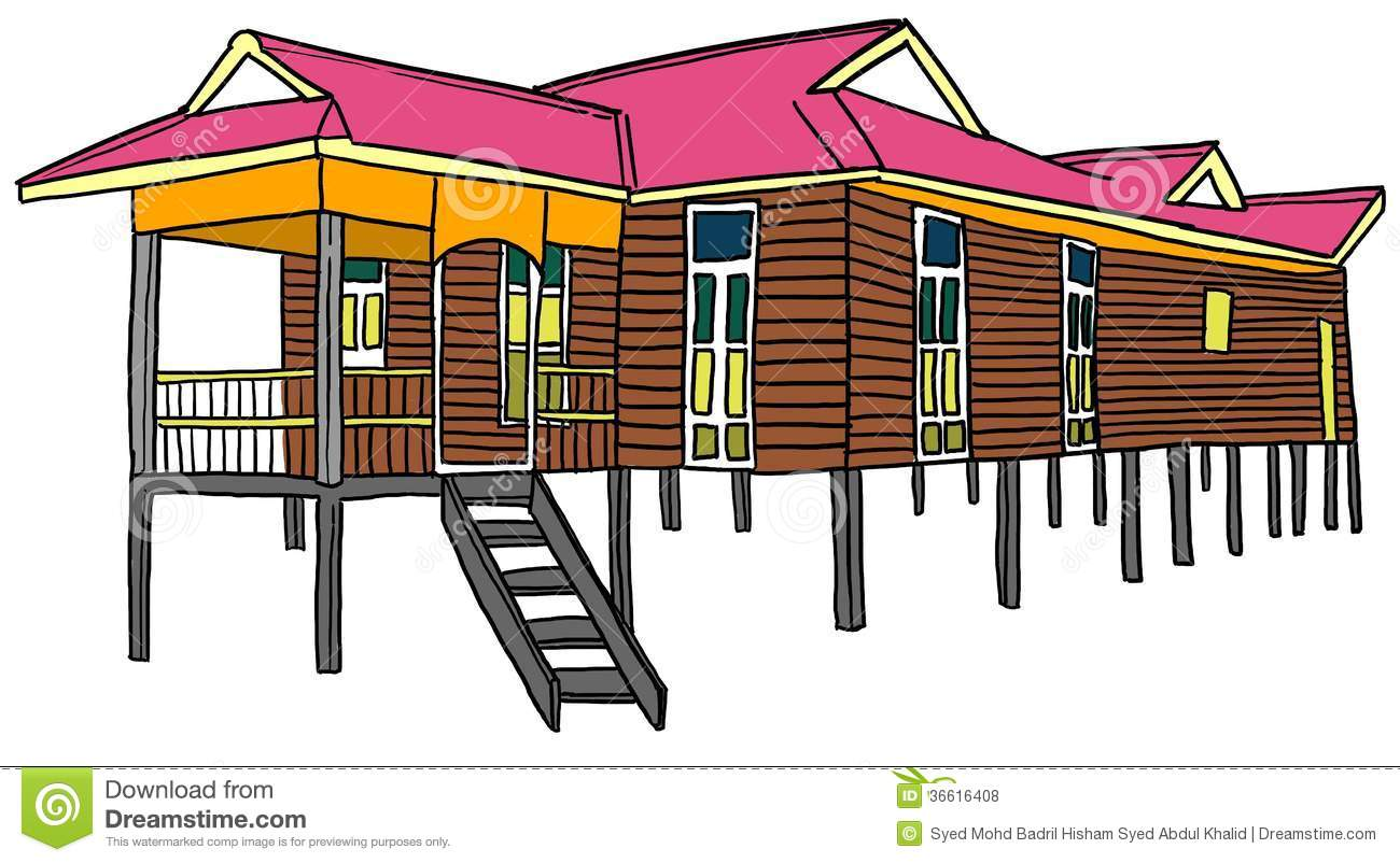 Traditional house clipart image free Malay House Royalty Free Stock Photos - Image: 36616408 image free