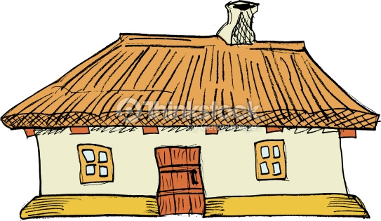 Traditional house clipart svg black and white library Ukrainian Traditional House Vector Art | Thinkstock svg black and white library