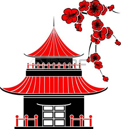 Traditional house clipart graphic free 903 Traditional Japanese House Stock Vector Illustration And ... graphic free