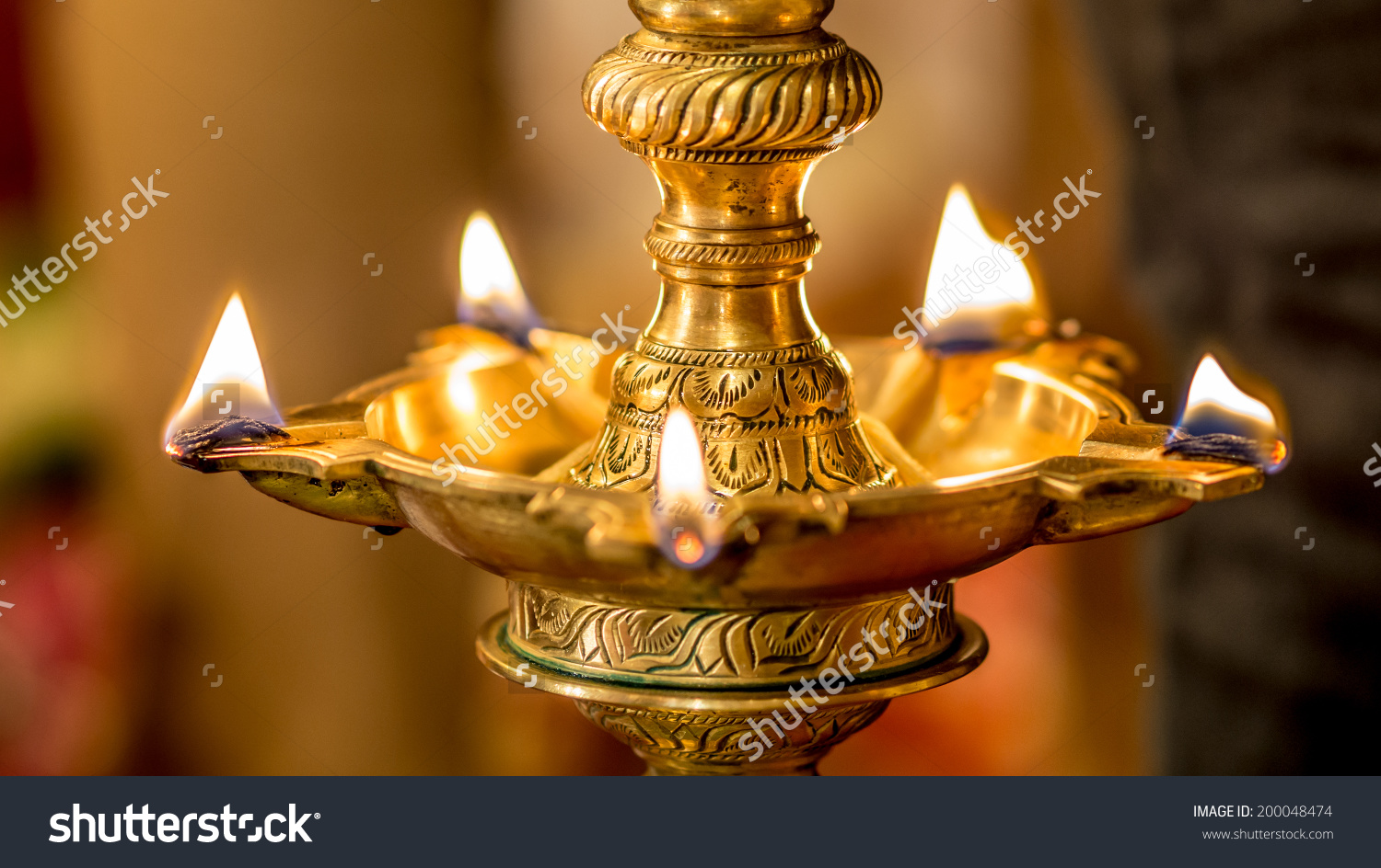Traditional house warming clipart vector transparent download Traditional South Indian Brass Oil Lamp Stock Photo 200048474 ... vector transparent download