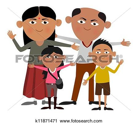 Traditional indian family clipart clip transparent Clipart of Indian family k11871471 - Search Clip Art, Illustration ... clip transparent