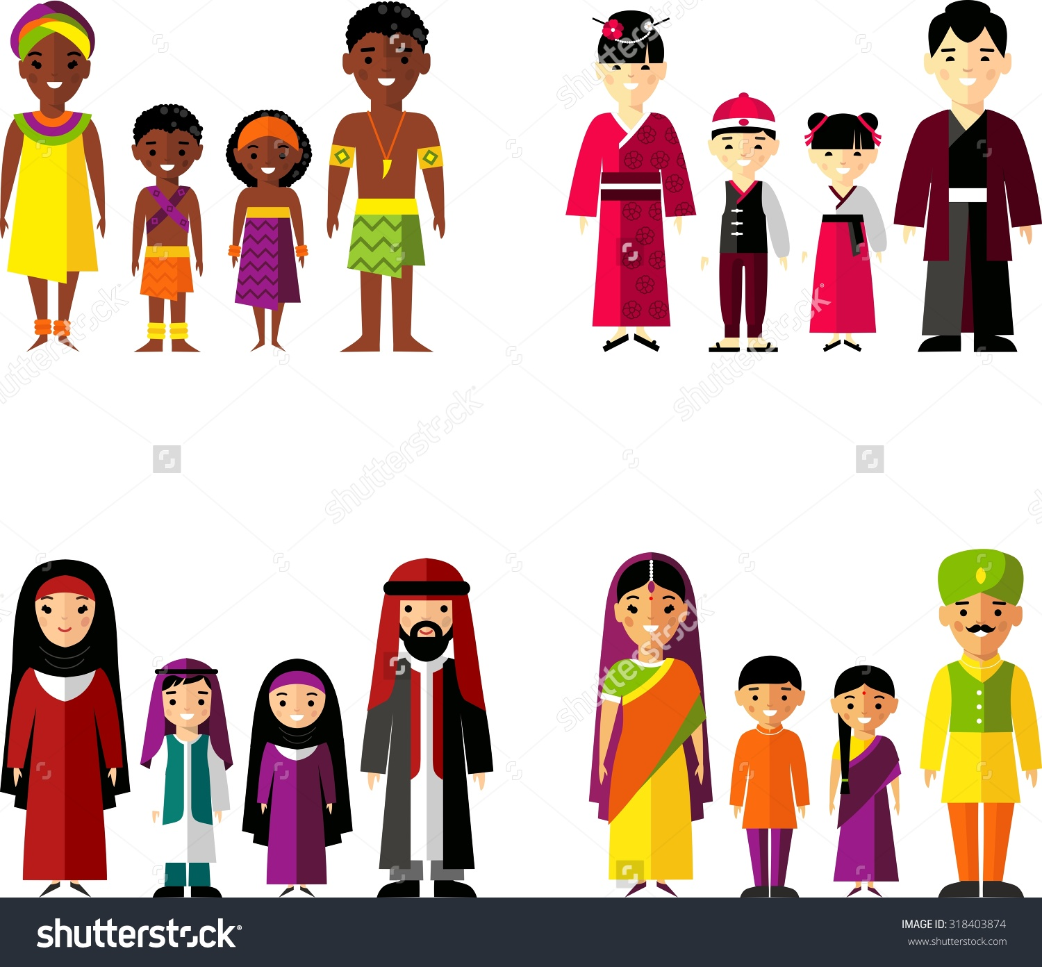 Traditional indian family clipart banner black and white stock Indian family clipart black and white - ClipartFest banner black and white stock