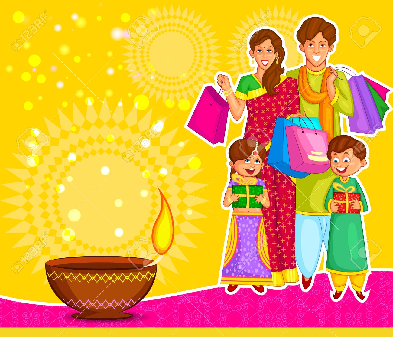 Traditional indian family clipart image library library 1,625 Indian Family Stock Illustrations, Cliparts And Royalty Free ... image library library