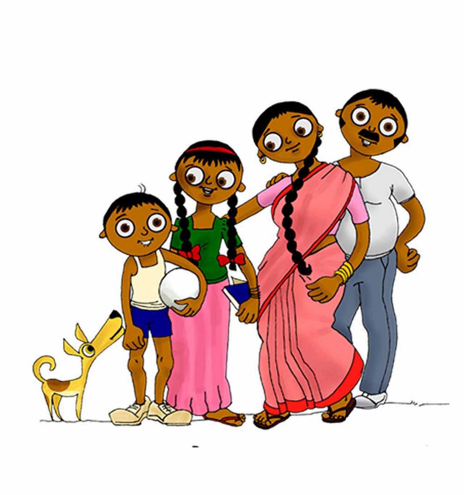 Traditional indian family clipart graphic free library Traditional indian family clipart - ClipartFest graphic free library