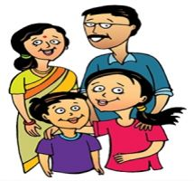 Traditional indian family clipart vector library download Family Reading Clipart Free - clipartsgram.com vector library download
