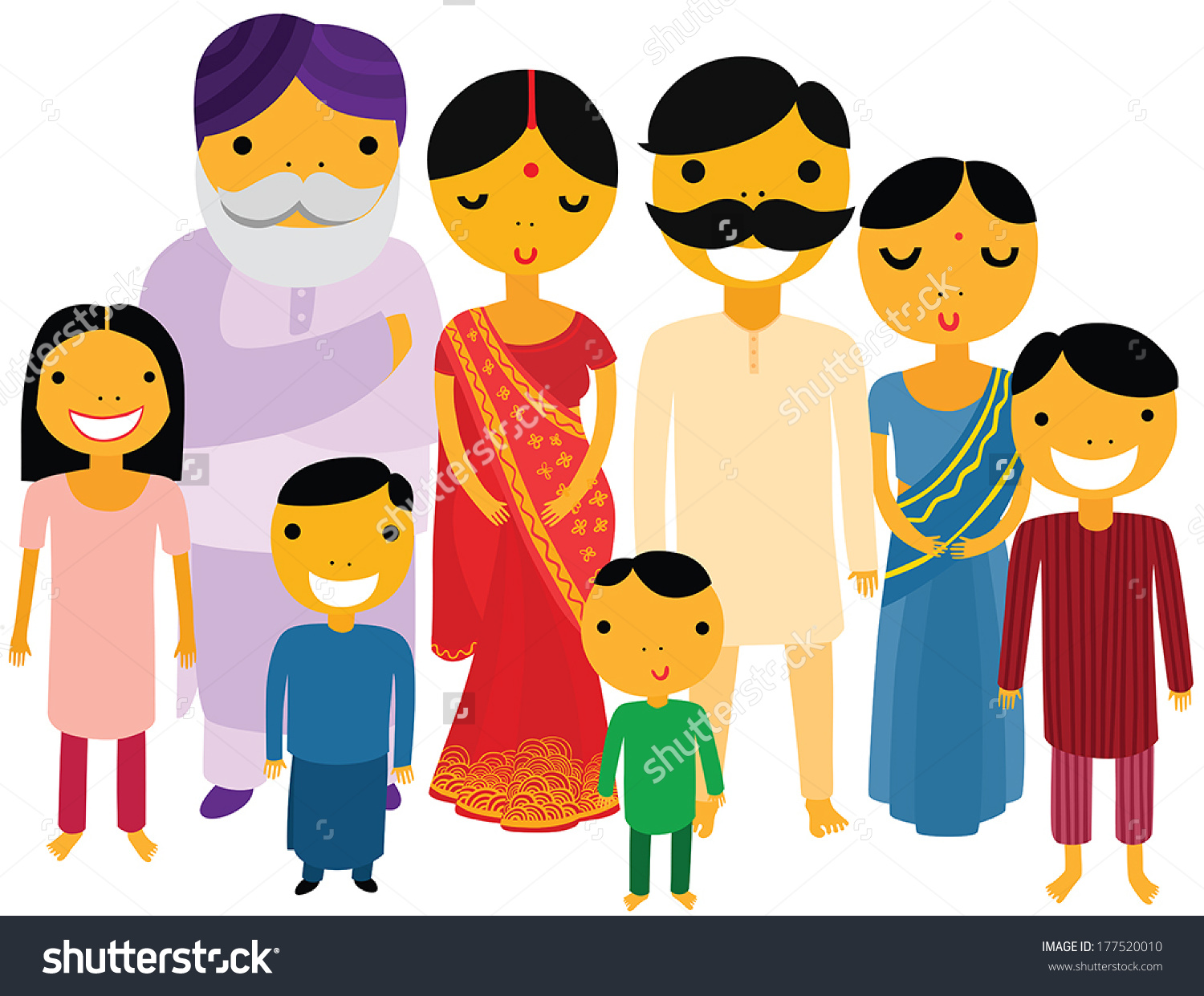 Traditional indian family clipart picture royalty free library Traditional indian family clipart - ClipartFest picture royalty free library