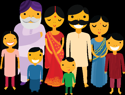 Traditional indian family clipart png black and white Traditional indian family clipart - ClipartFest png black and white