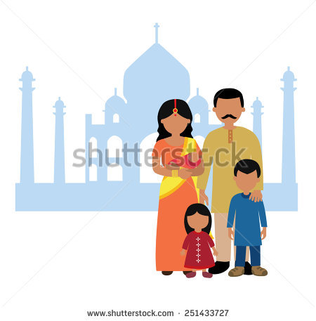 Traditional indian family clipart clip art library India Family Stock Images, Royalty-Free Images & Vectors ... clip art library