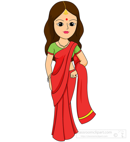 Traditional indian lady clipart jpg transparent Traditional indian lady clipart - ClipartFest jpg transparent