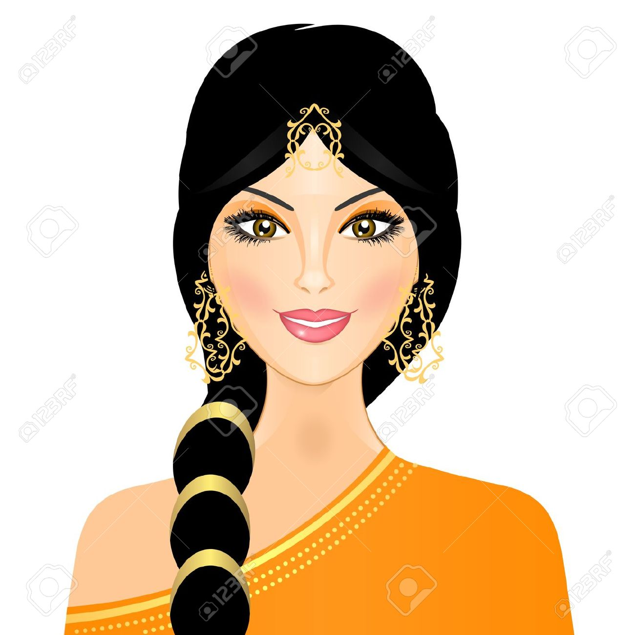 Traditional indian lady clipart clip art download Traditional indian lady clipart - ClipartFest clip art download
