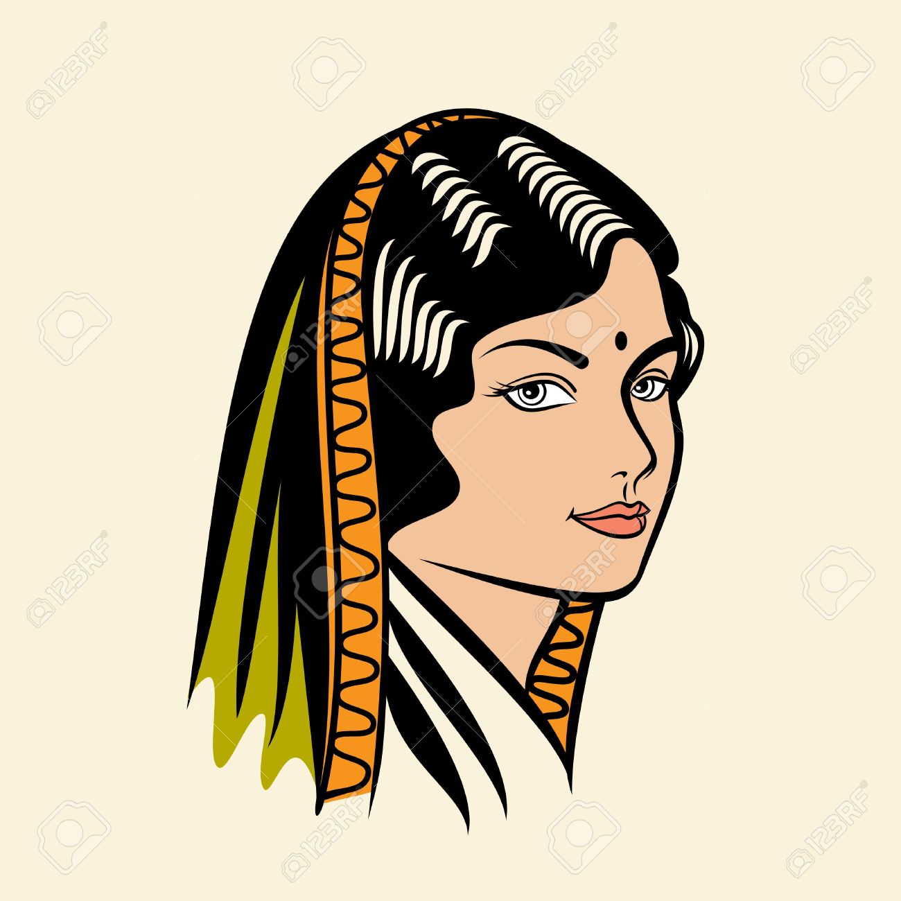 Traditional indian lady clipart jpg royalty free library Indian lady clipart - ClipartFest jpg royalty free library