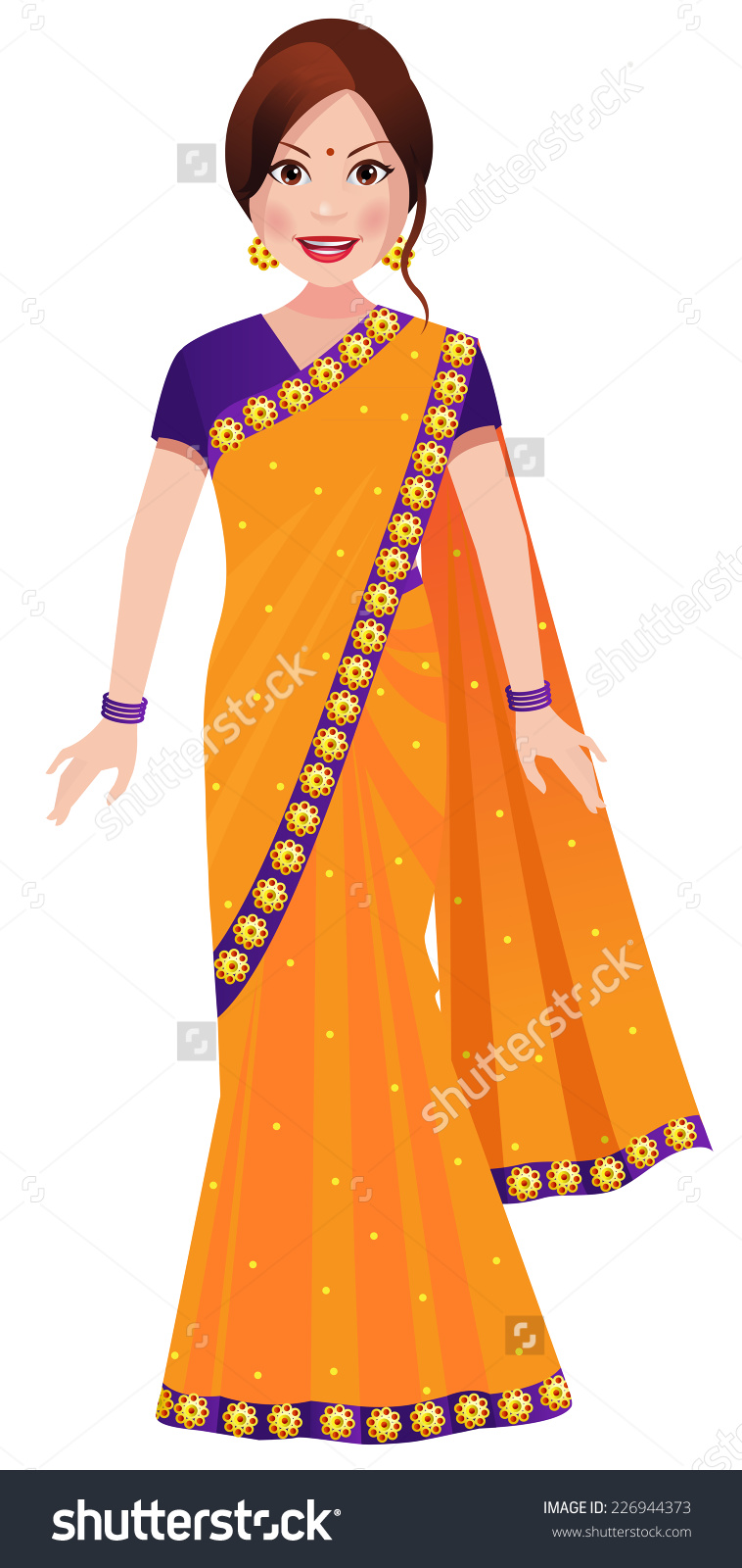 Traditional indian lady clipart vector library Traditional woman clipart - ClipartFest vector library