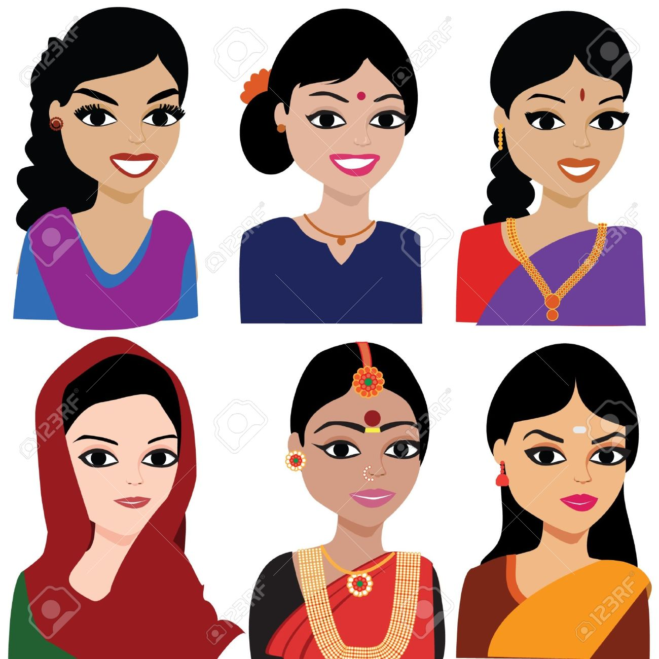 Traditional indian lady clipart image black and white library Indian lady clipart - ClipartFest image black and white library