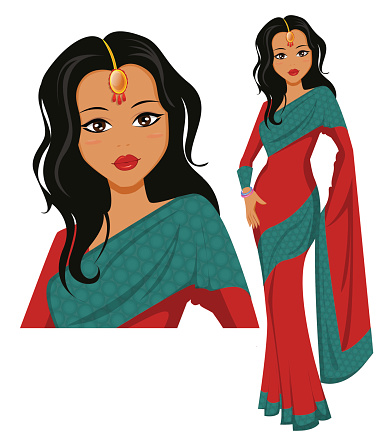 Traditional indian lady clipart banner transparent download Indian hot saree clipart - ClipartFox banner transparent download
