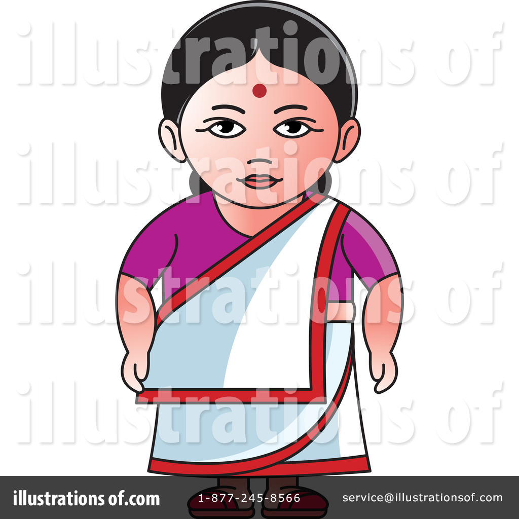 Traditional indian lady clipart graphic library Indian Woman Clipart #1242458 - Illustration by Lal Perera graphic library