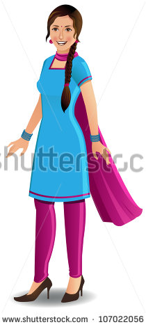 Traditional indian lady clipart clipart transparent Indian Woman Stock Vectors, Images & Vector Art | Shutterstock clipart transparent