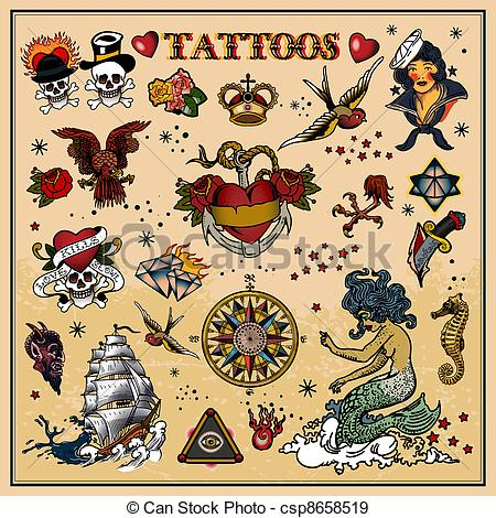 Traditional tattoo clipart clip art royalty free Traditional tattoo clipart - ClipartFest clip art royalty free