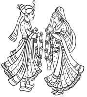 Traditional wedding clipart indian clipart black and white Hindu wedding cliparts vector - ClipartFest clipart black and white