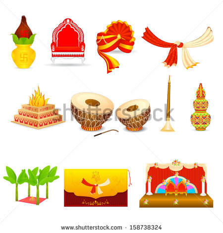 Traditional wedding clipart indian image library download Indian Wedding Card Stock Images, Royalty-Free Images & Vectors ... image library download