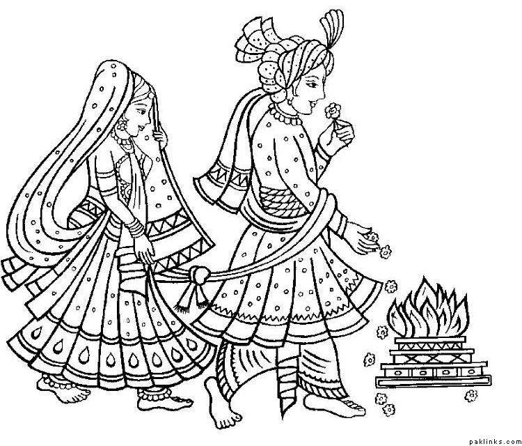 Traditional wedding clipart indian picture black and white Indian wedding clip arts - ClipartFest picture black and white