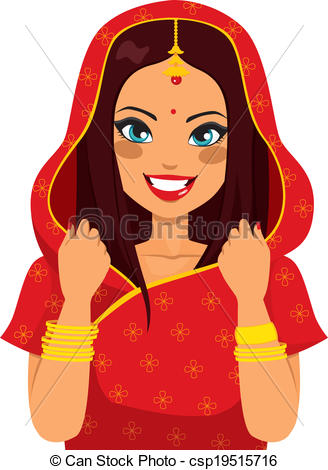 Traditional woman clipart