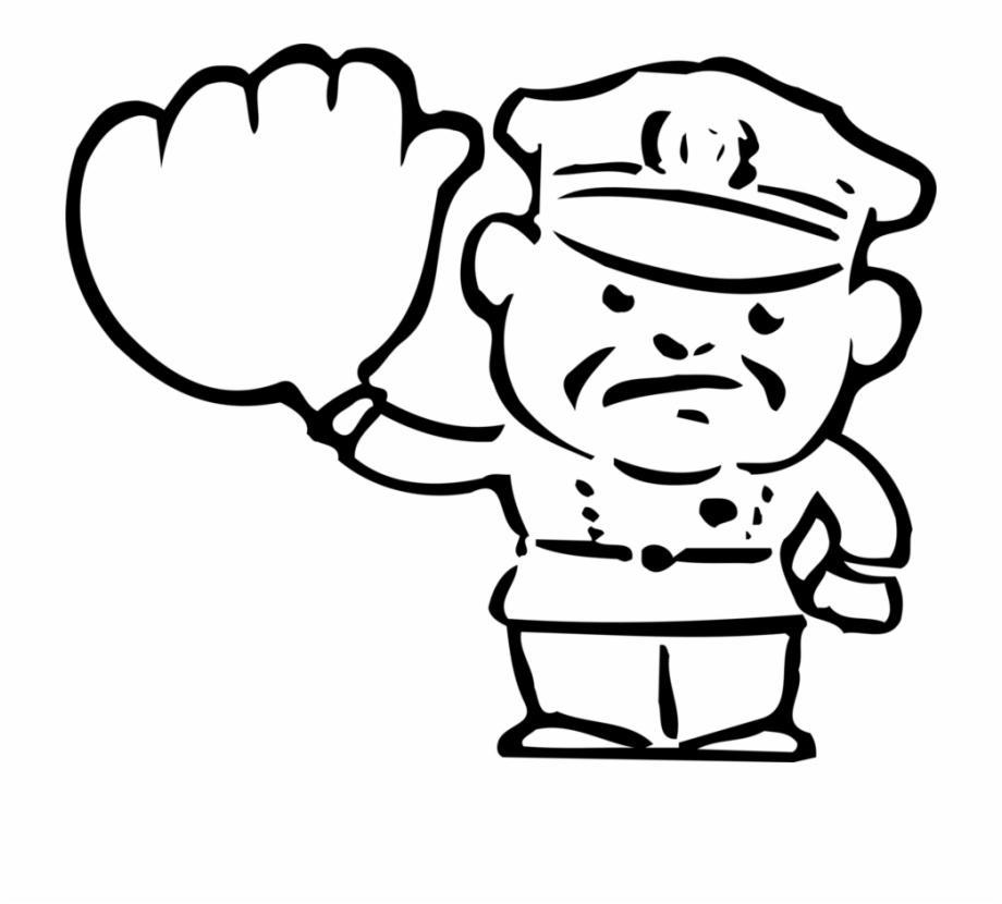 Traffic clipart black and white clip art freeuse stock Policeman Clipart Traffic Police - Police Officer Black And ... clip art freeuse stock