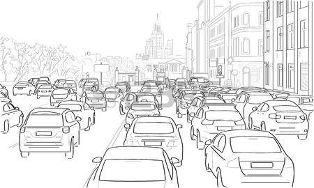 Traffic clipart black and white download Traffic jam clipart black and white - Clip Art Library download